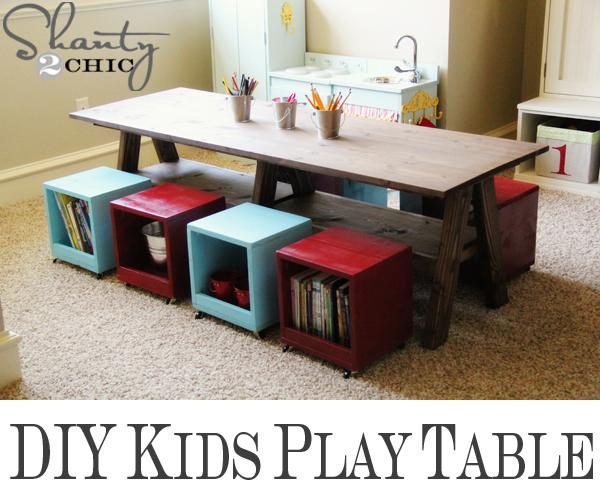 DIY Kids Play Table with Storage 600 x 500