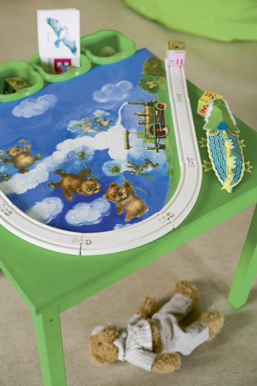 How To Turn Simple Low Table Into Kids Games Platform (via Shelterness)