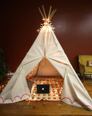 How To Sew A Teepee For Your Kids (via shelterness) & 10 Cool DIY Play Tents For Your Kids | Kidsomania