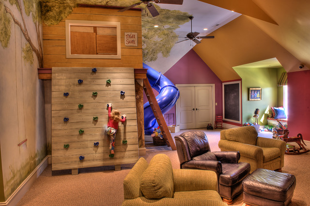 Functional Indoor Treehouse For A Kid Via Houzz