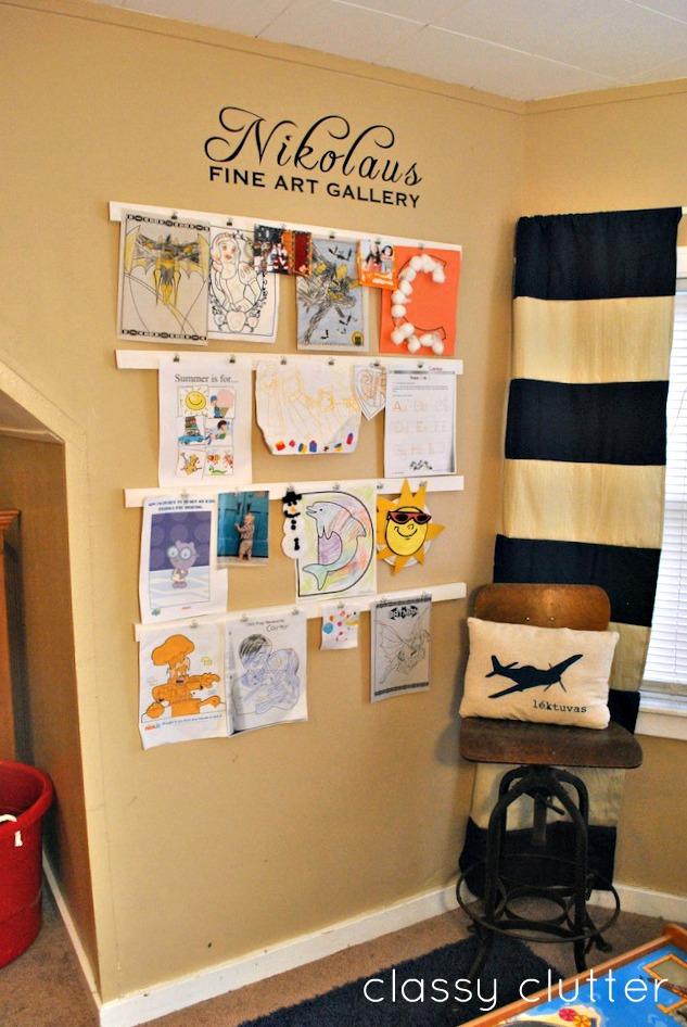 10 Diy Kids Art Displays To Make Them Proud