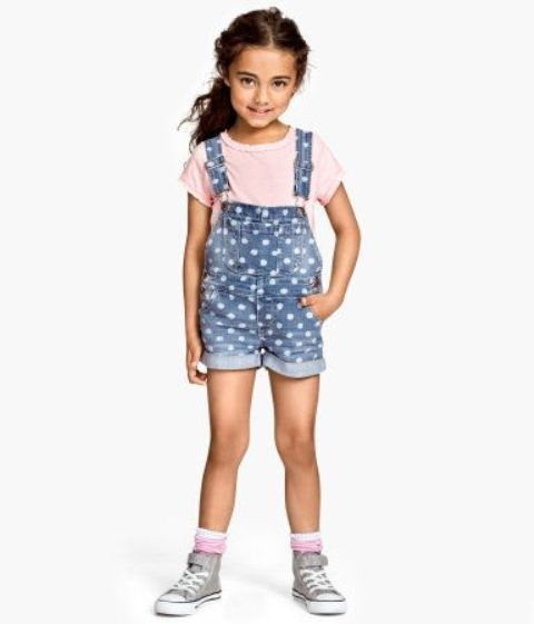 Overall shorts for kids