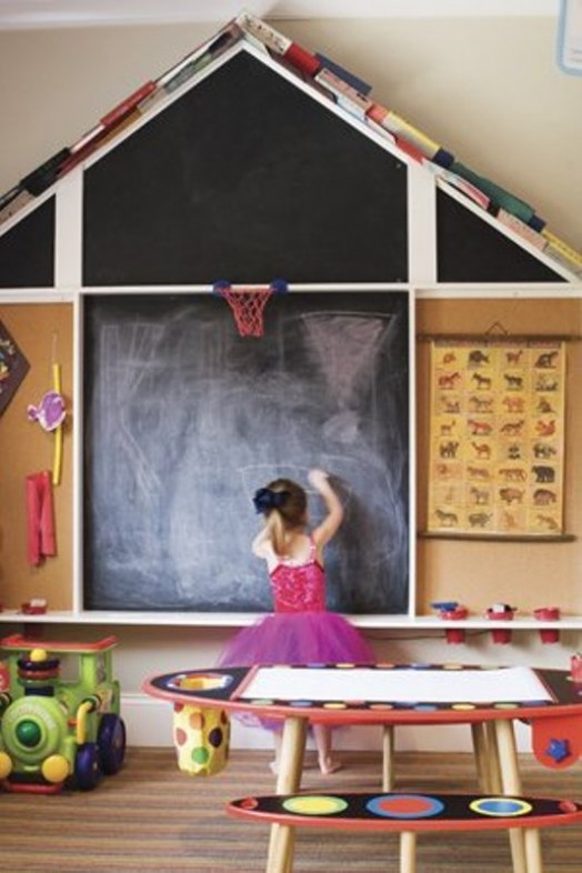 20 Cool Ideas To Use Chalkboards In A Kid S Room Kidsomania