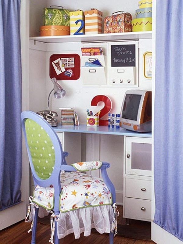 Study Room Storage: 20 Cool Ideas To Design A Workplace In A Kids Room