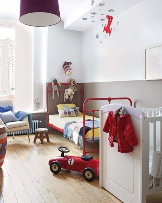 20 amazing shared kids room ideas for kids of different - Dormitorios infantiles vintage ...
