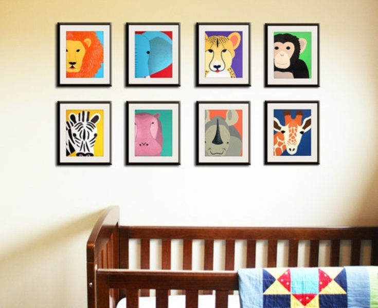 dont be afraid of using non traditional colors and have fun now you can tune into your nesting errrr animal instinct while designing your nursery - Kids Animal Prints