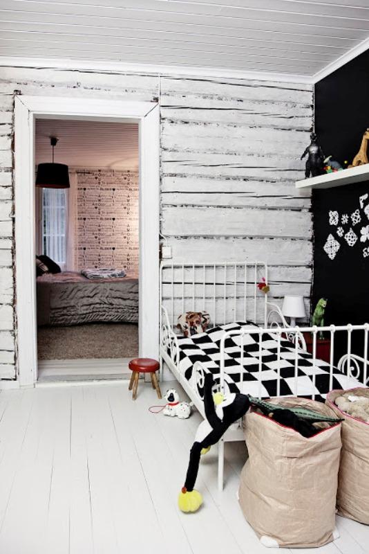 20 Stylish Black And White Kids Room Ideas Kidsomania