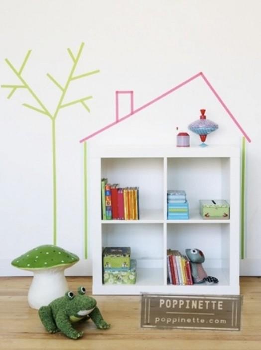 20 cool washi tape decor ideas for kids rooms kidsomania - Washi tape ideas ...