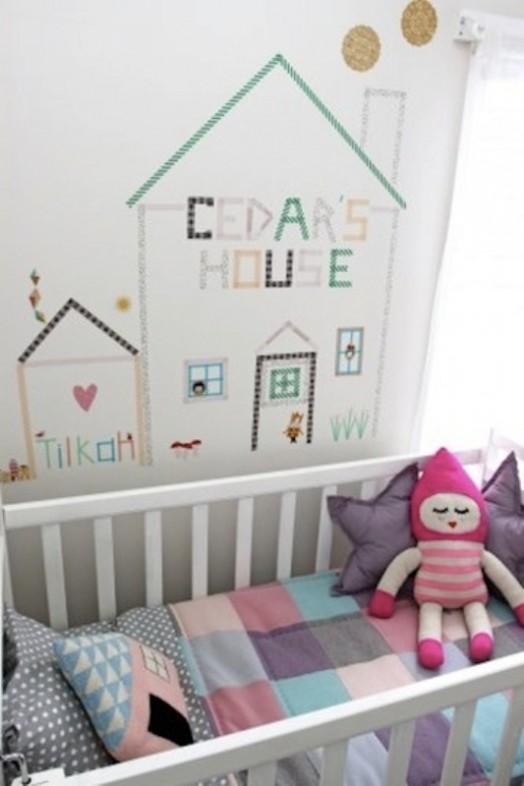 20 cool washi tape decor ideas for kids rooms kidsomania - Decorar con washi tape ...