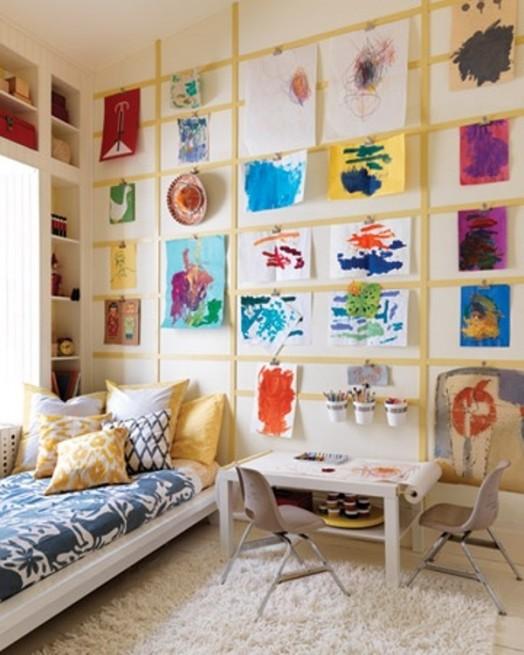 20 ways to display kids artwork 13 524x655