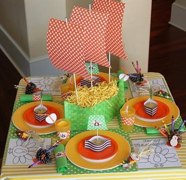 Inspiring thanksgiving kids table settings kidsomania