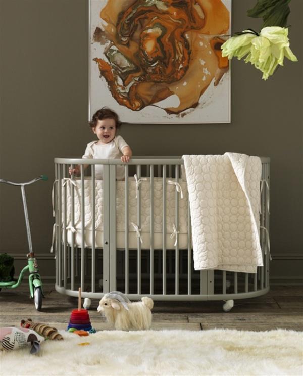 30 Cool Round Baby Crib Designs   Kidsomania