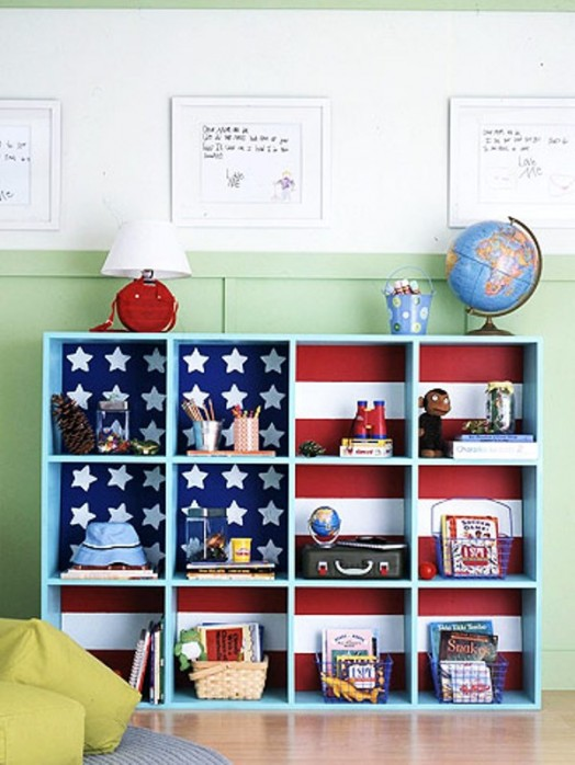 30 cubby storage ideas for your kids room kidsomania for Kids room shelf