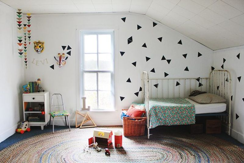 30 Kids Room With Trendy Triangles To Get Inspired