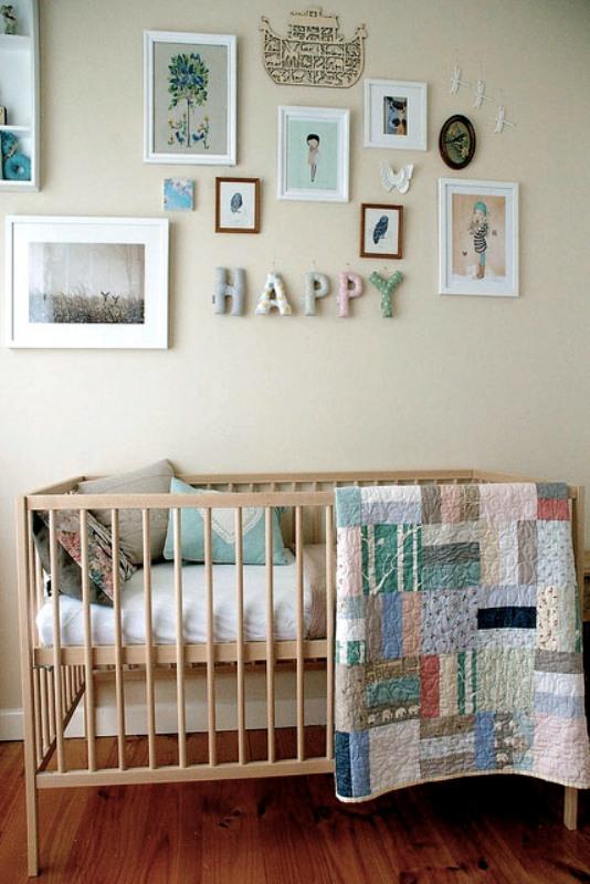 30 light and colorful baby girl nurseries ideas kidsomania for Baby girl nursery lighting