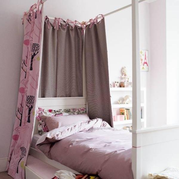 31 charming canopy bed ideas for a kid s room kidsomania Short canopy bed