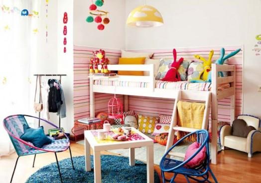 Kids Room with Loft Bed 524 x 367