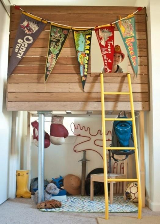 51 Ways To Diy The Bedroom Of Your Kids Dreams: 35 Cool Kids Loft Beds