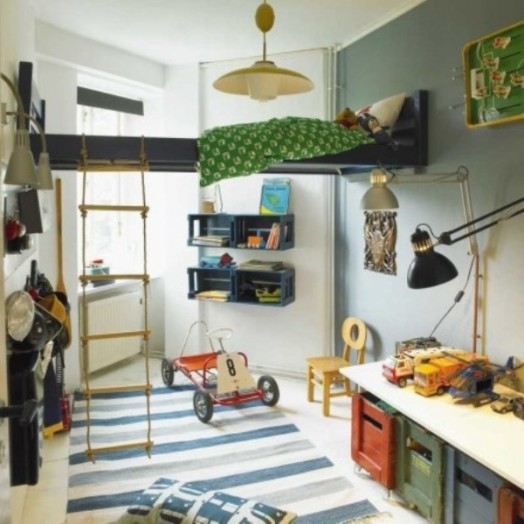 Cool Room Designs For Kids: 9 Cool Suspended Beds For A Kids Bedroom