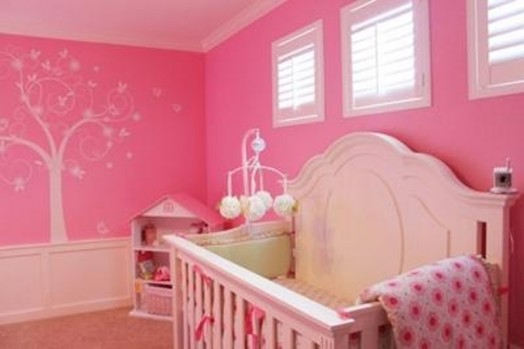 23 ideas to paint nursery walls in bright colors kidsomania - Cute colors to paint your room ...