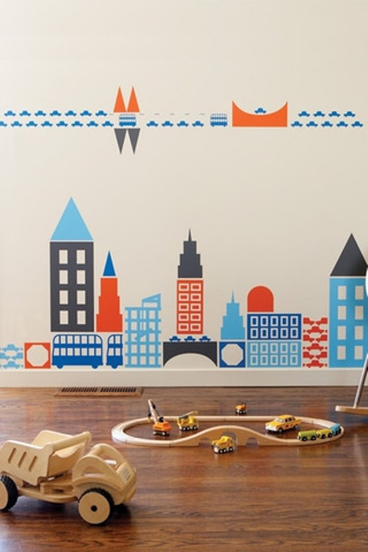 Cool  Big City Theme Designs For Kids Rooms
