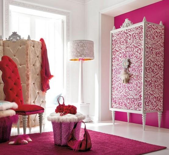 25 Beautiful And Charming Bedroom Design For Teenage Girls: Amazing Pink Girls Room Design – AltaModa Girl