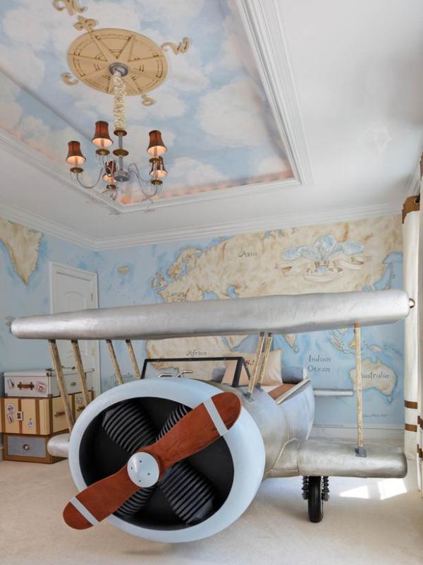 Airplane Bedroom Decor: Original Aviation Inspired Boys Bedroom Design