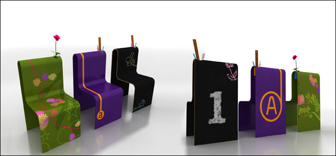 Awesome Kids Chalkboard Tables And Chairs From LOL Kids