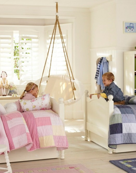 Pretty Shared Bedroom Designs For Girls: 12 Blue And Pink Shared Kids' Rooms