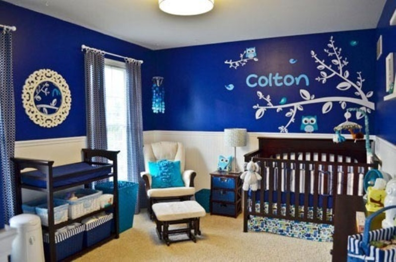 pin white blue baby boys room on pinterest