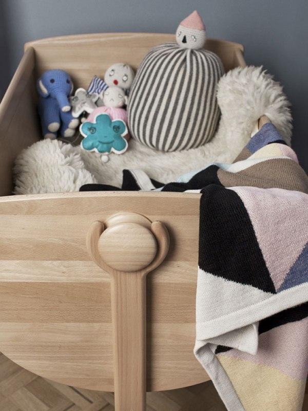 Natural Wood Lulu Cradle In Danish Traditions Kidsomania