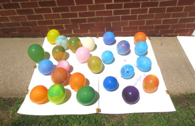 Colorful Diy Balloon Pop Painting Game Kidsomania