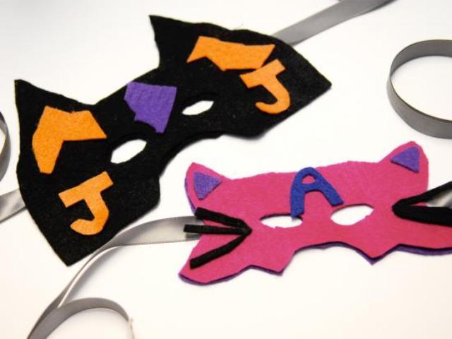 Colorful Diy Felt Superhero Masks Kidsomania