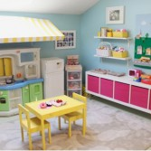 Epic Organizing A Playing Nook With Colorful Kids Kitchen Set From IKEA