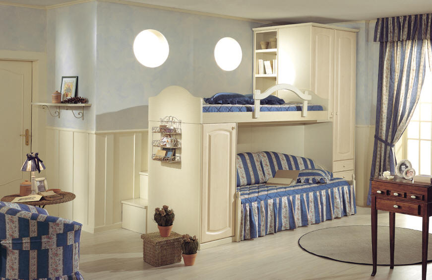 20 Comfy Kids Bedrooms Designs in Classic Style from Effedue Mobili ...