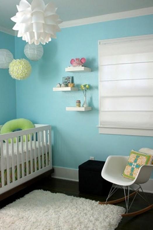 Modern Baby Nursery Design And Ideas: Cool Aqua Design For Nursery
