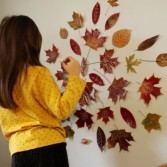 Cool Autumn Idea To Decorate A Kids' Room Wall ...