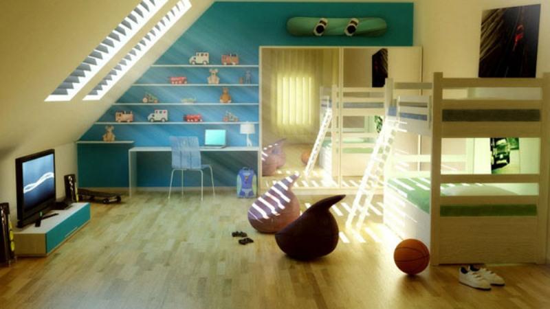 15 Cool Design Ideas For An Attic Kids Room Kidsomania