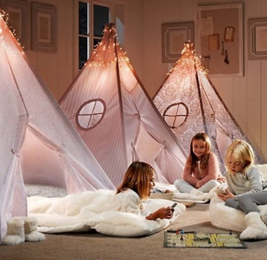 20 cool teepee design ideas for a kids room kidsomania - Cool stuff for girls room ...