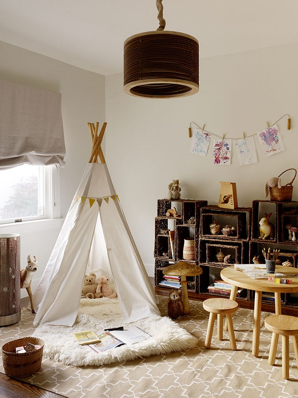 Small Game Room Ideas: 20 Cool Teepee Design Ideas For A Kids Room