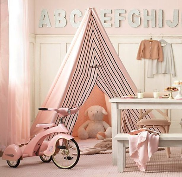 Baby Room Wall Décor Ideas Tips For Careful Parents: 20 Cool Teepee Design Ideas For A Kids Room