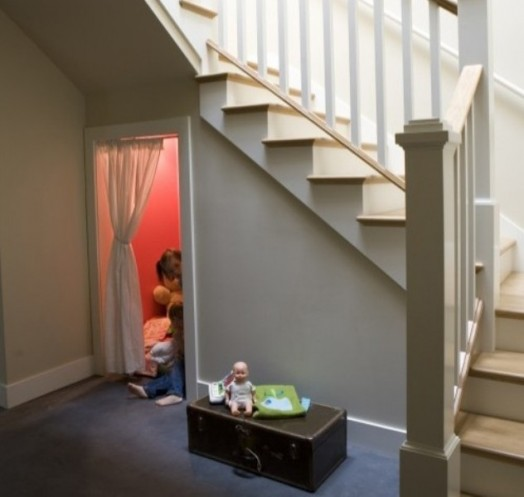 Stairs For Small Areas: 9 Cool Ideas For Kids Playing Area Under The Stairs