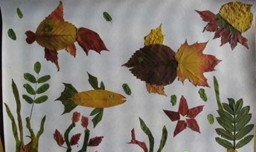 15个简单又有童趣的落叶贴画