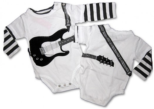 """Cool Onesies for Stylish Baby Boys â€"""" Electric Guitar ..."""