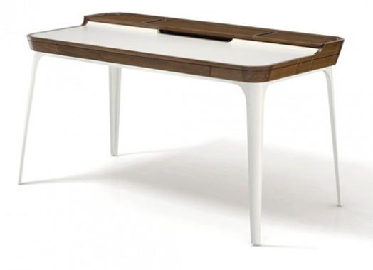 Cool study desk for modern teen room design from for Escritorio de vidrio