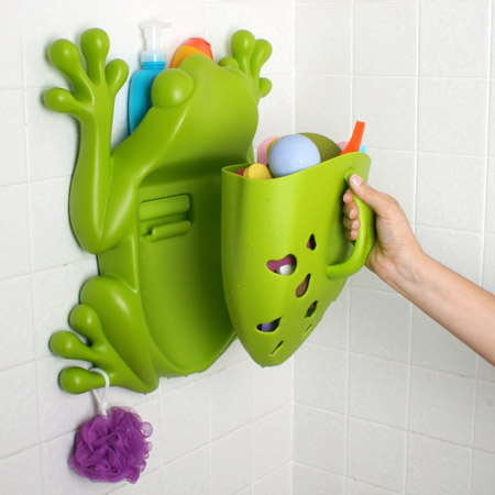 cool and funny bath toy storage containers frog pod and bug pod from boon kidsomania. Black Bedroom Furniture Sets. Home Design Ideas