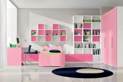 غرف نوم بنات روعة Cool-pink-girls-bedroom-designs-from-Doimo-Cityline-1-524x349