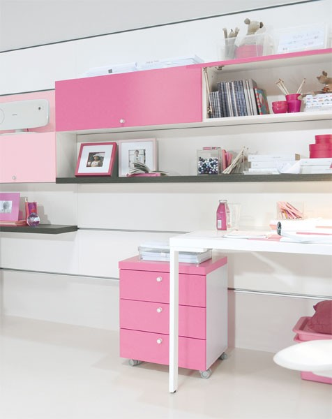Cool Pink Girls Bedroom Designs from Doimo City Line | Kidsomania