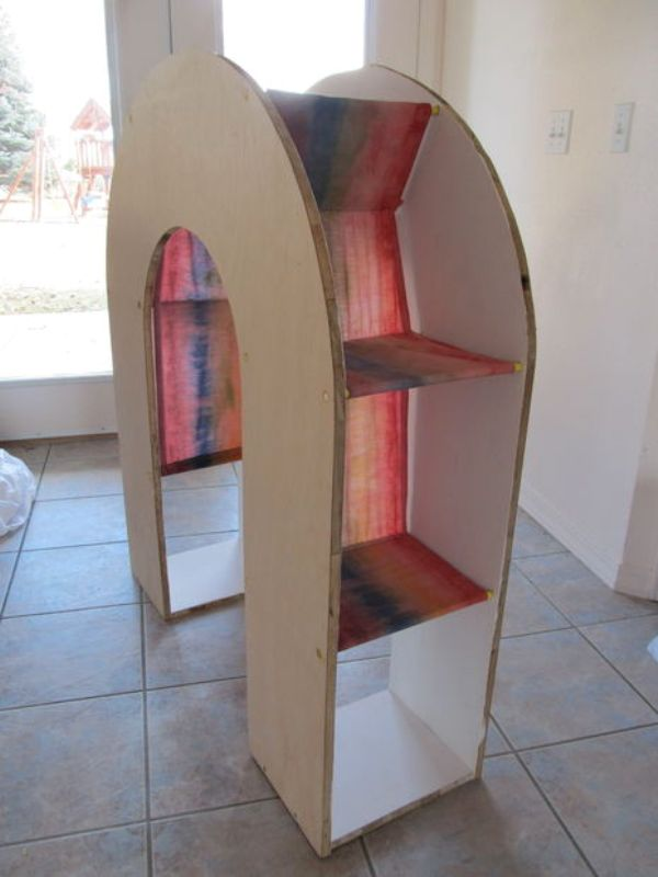 cool childrens bookshelves diy rainbow bookcase for a kids reading nook kidsomania
