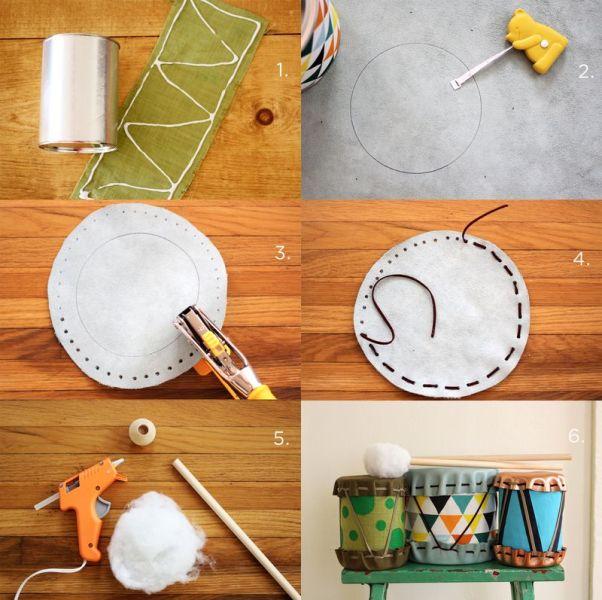 adorable diy drums for children kidsomania. Black Bedroom Furniture Sets. Home Design Ideas